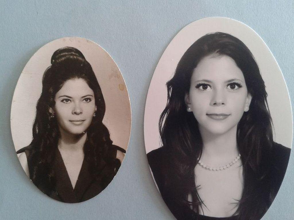 Aku dan ibu di usia yang sama namun di abad yang berbeda. (Foto: Brightside)