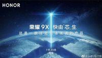Poster promosi peluncuran Honor 9X.