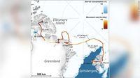 Peta perjalanan rubah Arktik (CNN)