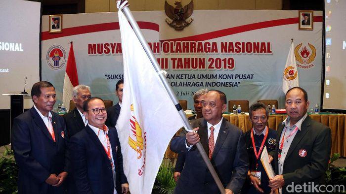 Marciano Norman terpilih sebagai Ketum KONI 2019-2013 tapi sudah diadang banyak PR (Rengga Sancaya/detikSport)