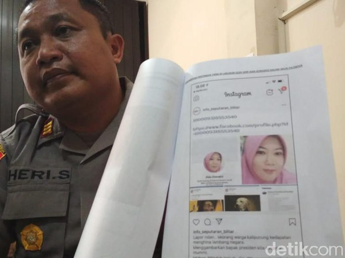 Polisi periksa akun FB penghina Presiden Jokowi/Foto: Erliana Riady