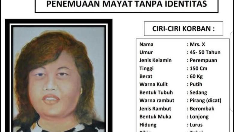 Sketsa Wajah Mayat Wanita Terikat di Bekasi Disebar ke Pangkalan Ojek-Pasar