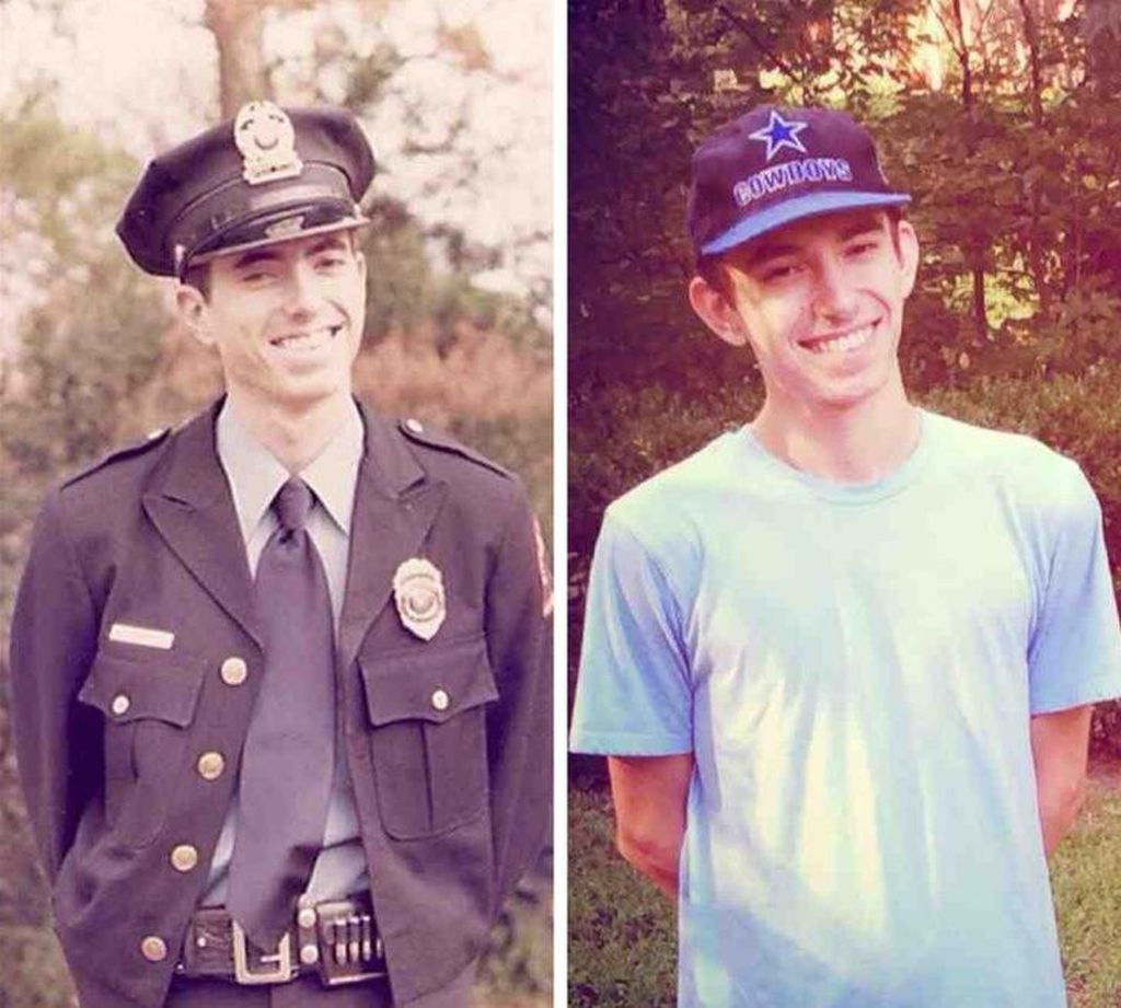 Ayah dan anak ketika sama-sama berusia 20 tahun. (Foto: Brightside)