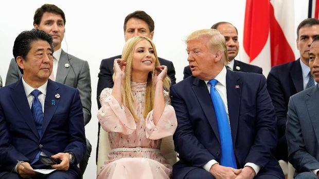 Ivanka Trump saat mendampingi Trump dalam KTT G20 di Osaka, Jepang