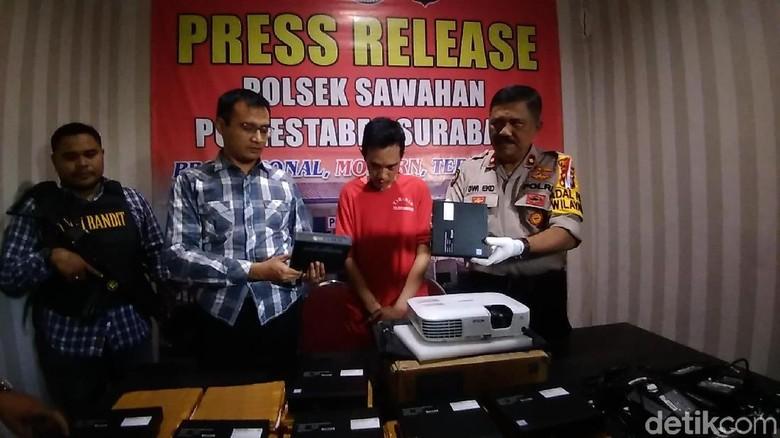 Bobol 2 Sekolah, Mantan Guru Honorer di Surabaya Ditembak Kakinya