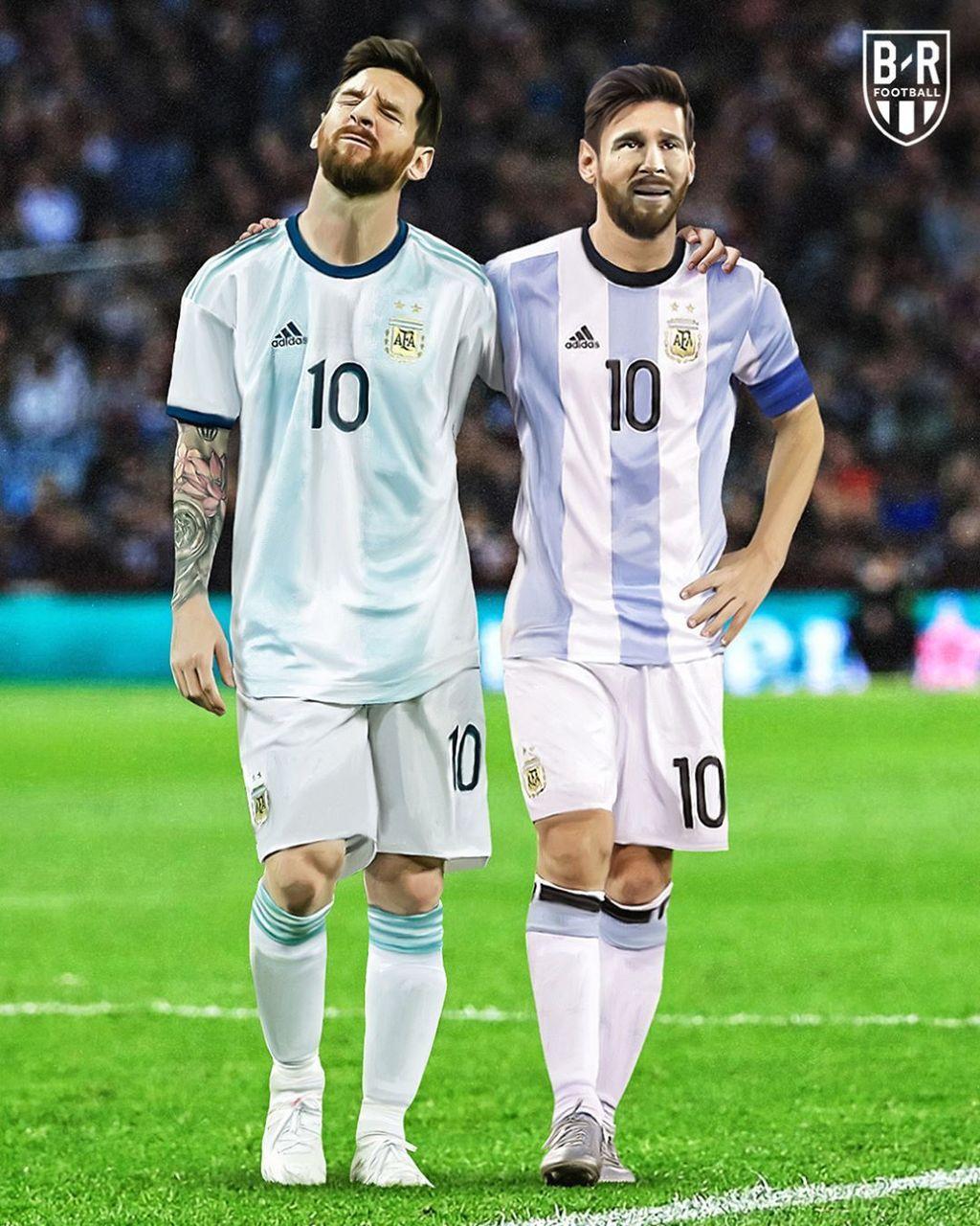 Kekalahan Argentina tentunya jadi memperparah luka Lionel Messi yang terus-terusan gagal di ajang internasional di level senior. Foto: Instagram/brfootball