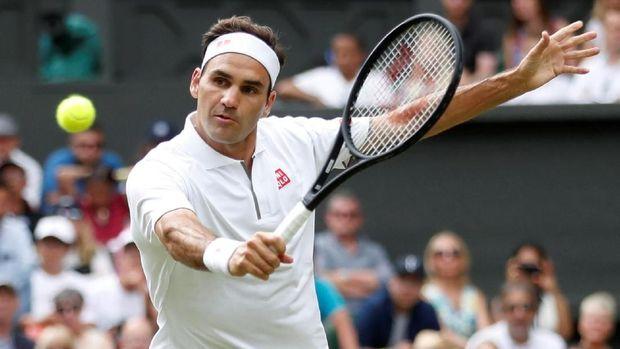 Roger Federer lolos ke babak ketiga Wimbledon 2019.