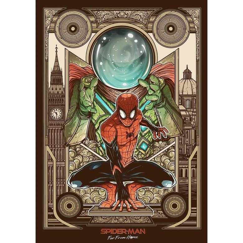 Ini Seniman Malang yang Menang Kontes Poster Spider-Man: Far From Home Foto: Istimewa