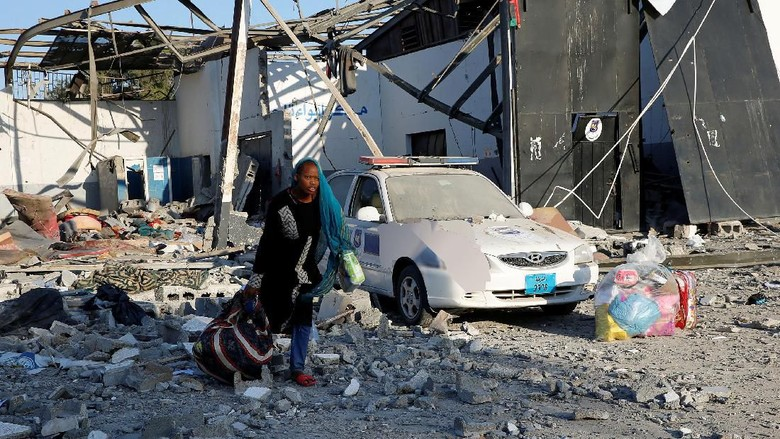 Serangan Udara Sasar Pusat Detensi Migran Libya, 40 Orang Tewas
