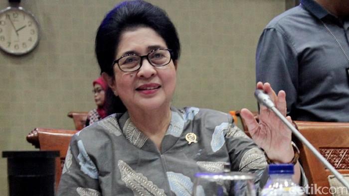 Menteri Kesehatan RI Nila F Moeloek (Foto: Lamhot Aritonang)
