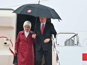 Presiden Turki Serukan Boikot Merek Prancis, Tas Hermes Istrinya Diklaim KW