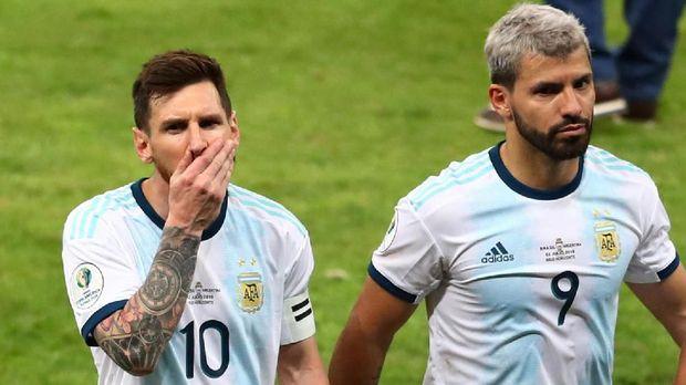 Sergio Aguero dan Lionel Messi mengoleksi satu gol di Copa America 2019.
