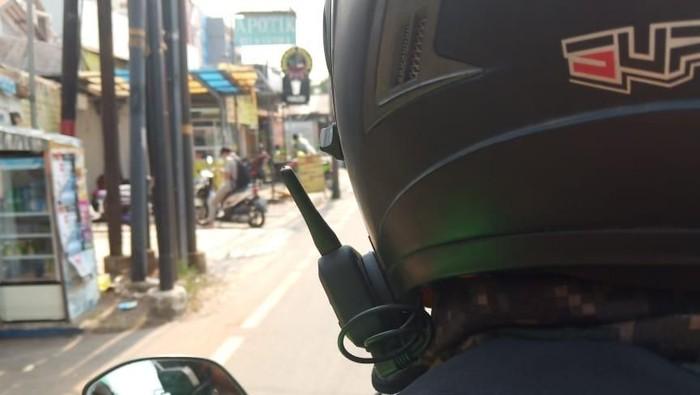 Viral helm canggih abang ojol. (Foto: Dok. Amanda Andono/Istimewa)