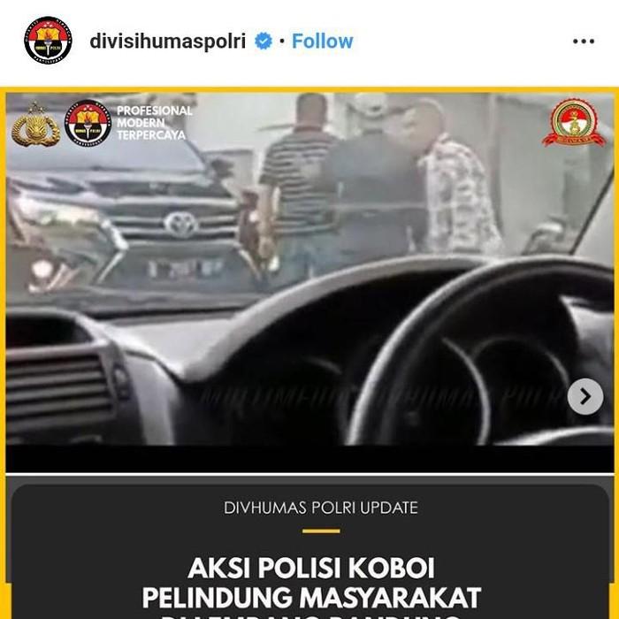 Foto: tangkapan layar Instagram akun @divisihumaspolri