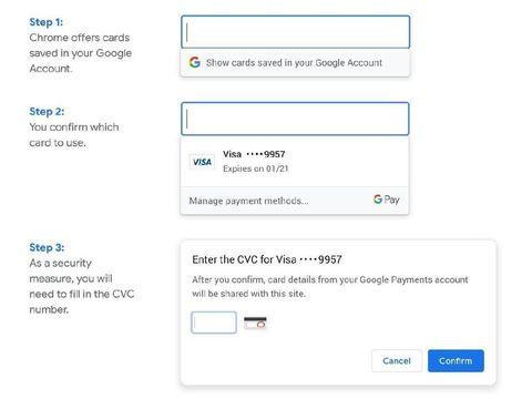 Chrome Bisa Otomatis Isi Data Kartu Kredit