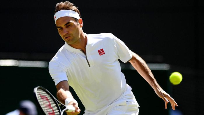 Roger Federer lolos ke babak ketiga Wimbledon 2019 (Foto: Matthias Hangst/Getty Images)