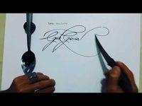 Bermodal Garpu dan Pisau, Seniman Turki Ini Buat Kaligrafi Menakjubkan