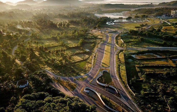 Begini kawasan Kawasan Mandalika, Lombok Tengah, Nusa Tenggara Barat yang akan menggelar perhelatan MotoGP. Foto diambil pada 23 Februari 2019. Arsyad Ali/AFP.