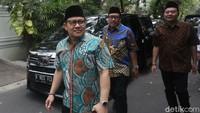 Cak Imin mengatakan kedatangannya untuk membicarakan gagasan PKB hingga pemerintahan ke depan.