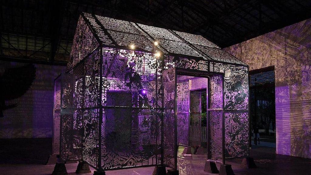 Kuil Harapan Entang Wiharso Mejeng di Australia