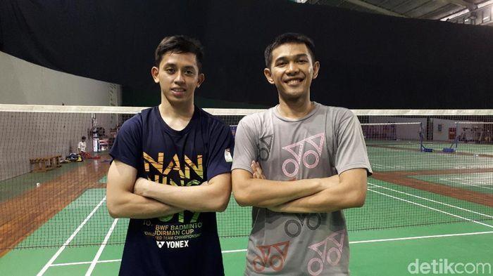 Fajar Alfian/Muhammad Rian Ardianto siap tempur menghadapi pasangan bongkar pasang China.  (Mercy Raya/detikSport)