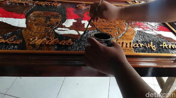Karya Jokowi yang digarap Saiful Huda (Foto: Muhajir Arifin)