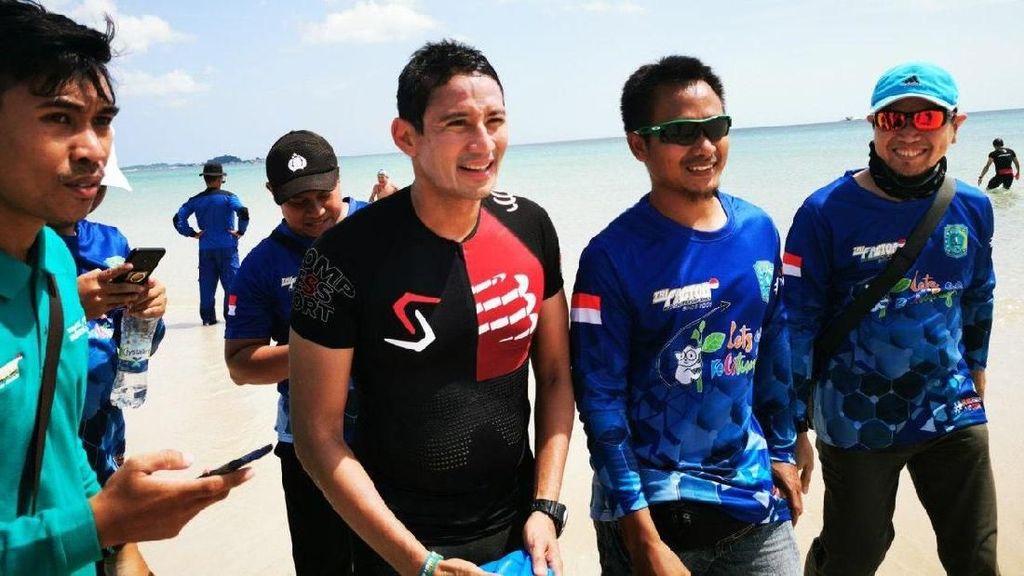 Ke Belitung, Sandiaga Ikuti Triathlon Trifactor 2019