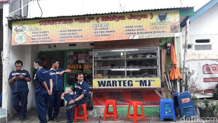 Warteg yang berada dekat Kantor UNHCR Perwakilan Indonesia, Jakarta Pusat. (Isal Mawardi/detikcom)