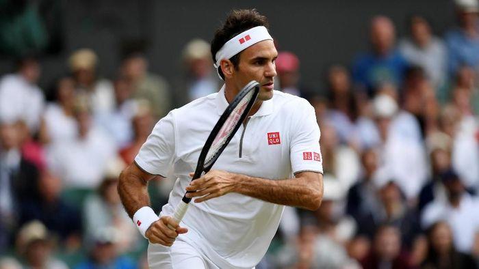 Roger Federer lolos ke babak keempat Wimbledon 2019 (Foto: Tony OBrien/Reuters)