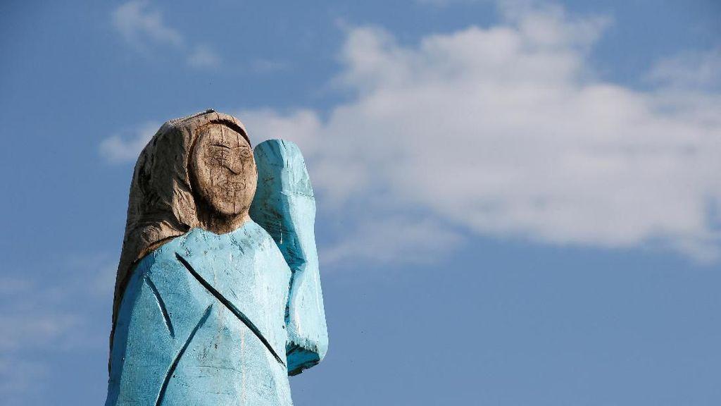 Patung Melania Trump Dibangun di Dekat Sevnica Slovenia