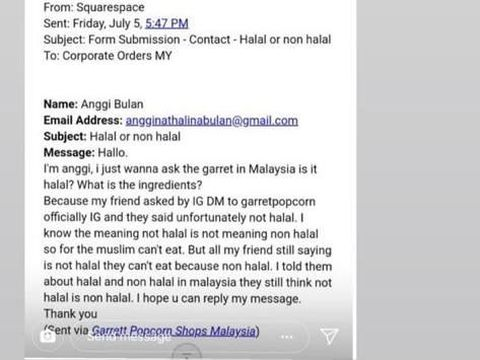 Netizen Heboh Garrett Popcorn Tidak Halal, Ini Penjelasannya!