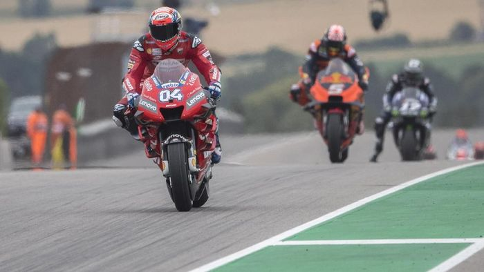 Andrea Dovizioso start dari posisi 13 di MotoGP Jerman. (Foto: Mirco Lazzari gp/Getty Images)