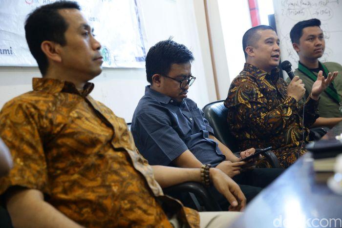 Founder KAHMIPreneur Kamrussamad menjadi narasumber dalam Tadarrus Ekonomi yang mengambil tema 'Menakar Stabilitas Pasar Pasca Pemilu 2019', Jakarta, Minggu (7/6/2019).