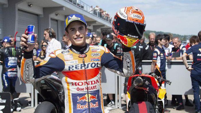 Marc Marquez start terdepan di MotoGP Jerman (Foto: Mirco Lazzari gp/Getty Images)