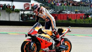 Perfect 10 Marquez di Sachsenring