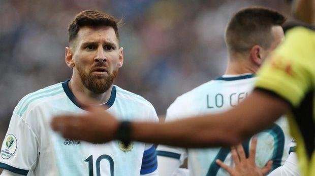 Lionel Messi menuding Copa America 2019 direkayasa untuk memenangkan timnas Brasil. (