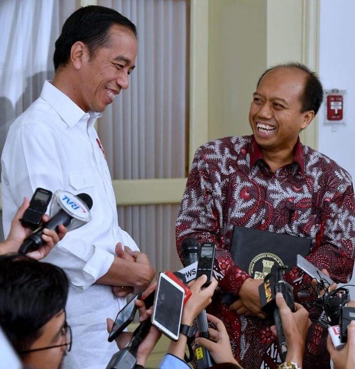 Foto: Sutopo Purwo Nugroho saat bertemu Jokowi (Twitter @jokowi)