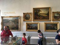 Ada banyak karya seni di istana ini (Angga Aliya/detikcom)