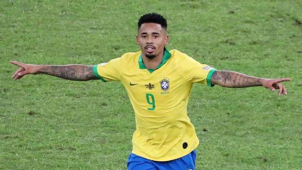 Gabriel Jesus merupakan bintang Brasil di final Copa America usai cetak satu gol dan berikan satu assist.