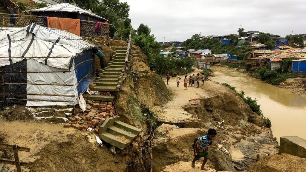5 Ribu Gubuk Pengungsi Rohingya di Bangladesh Hancur Akibat Longsor