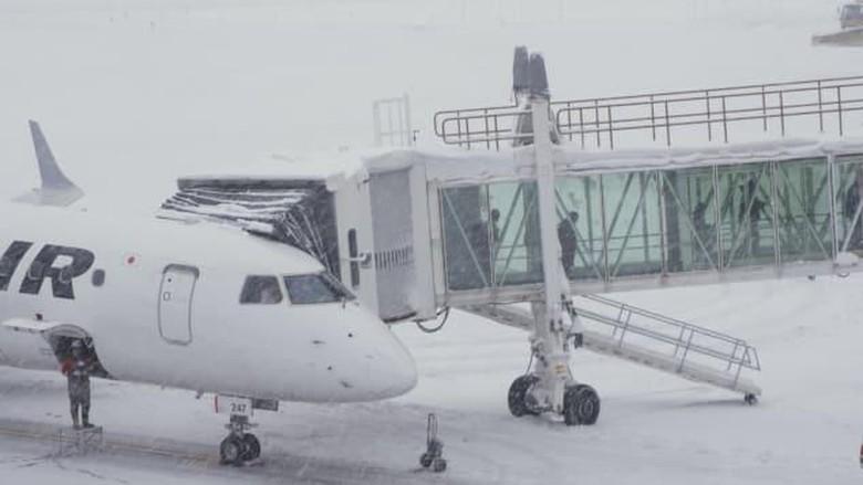 Ilustrasi bandara bersalju (CNN)