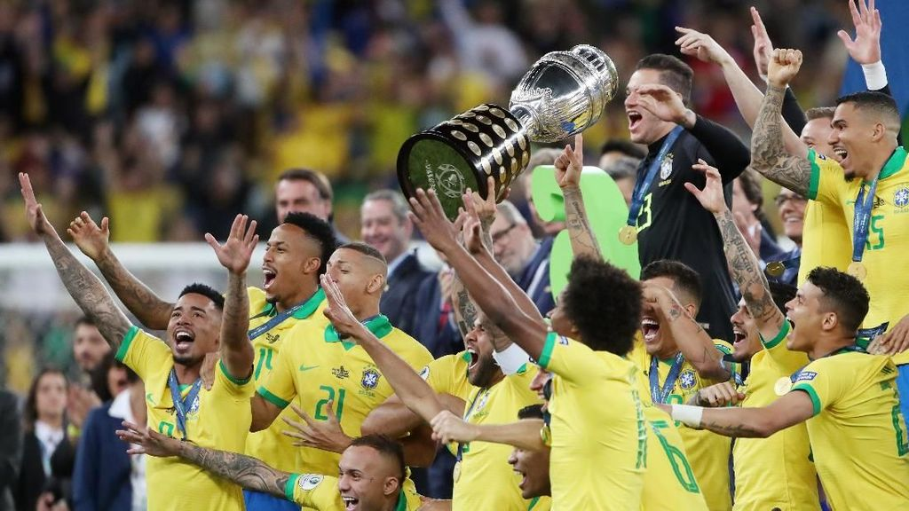 Sudah 9x Juara Copa America, Brasil Masih Kalah dari Argentina-Uruguay