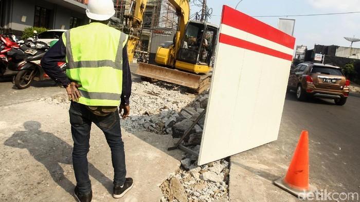 Proyek Revitalisasi Trotoar Kemang. (Foto: Rifkianto Nugroho)