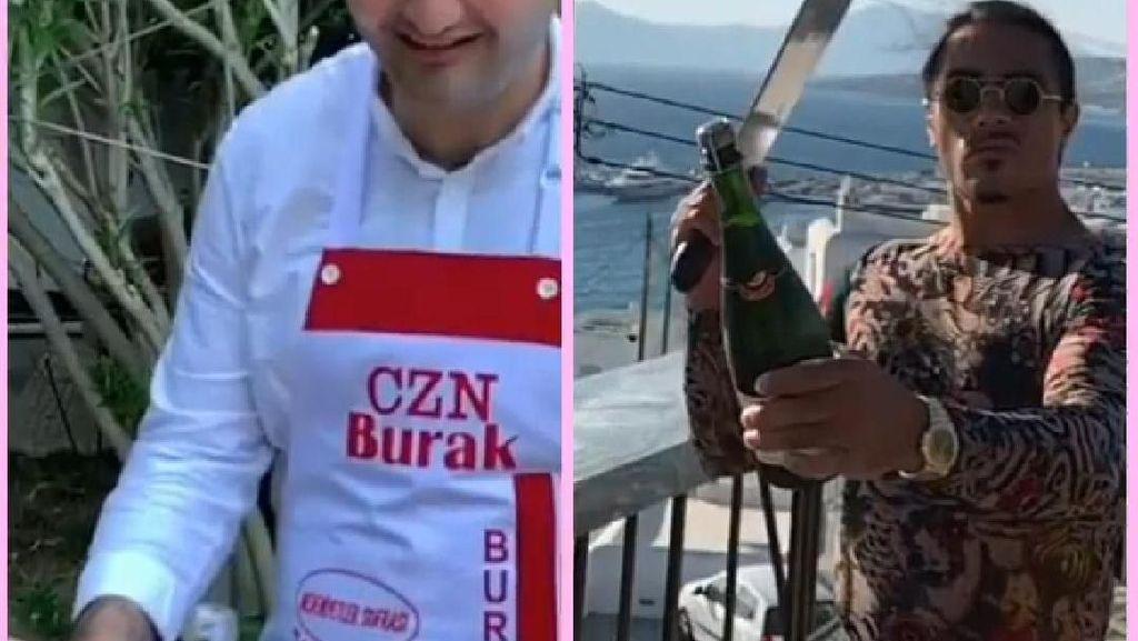 2 Chef Turki Kompak Ikutan Bottle Cap Challenge, Siapa yang Paling Seru?