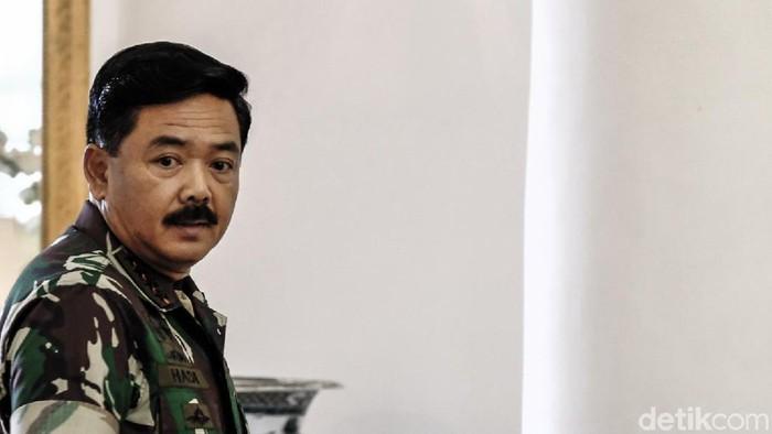 Panglima TNI Marsekal Hadi Tjahjanto (Andhika Prasetia/detikcom)