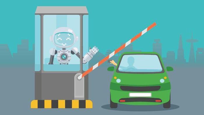 Penjaga Tol Diganti Robot