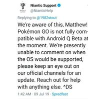 Gamer Mengeluh, Pokemon Go di Android Q Beta Macet