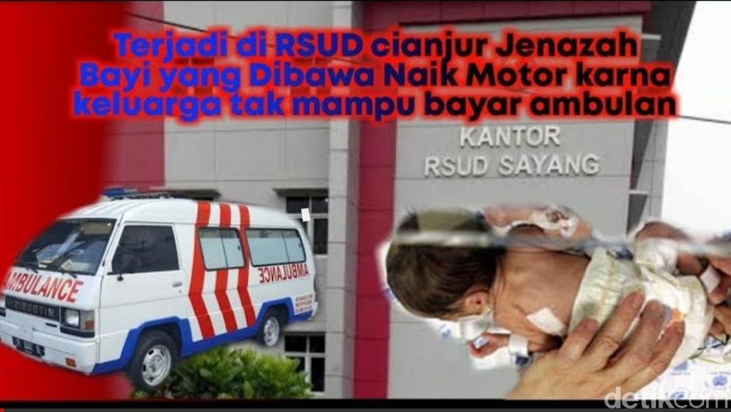 Plt Bupati Cianjur Sesal Jasad Bayi Dibawa Pakai Motor dari RS
