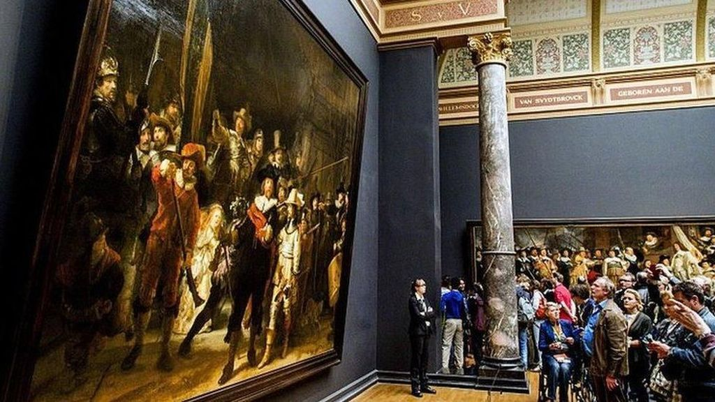 The Night Watch Karya Rembrandt Direstorasi dan Disiarkan Langsung