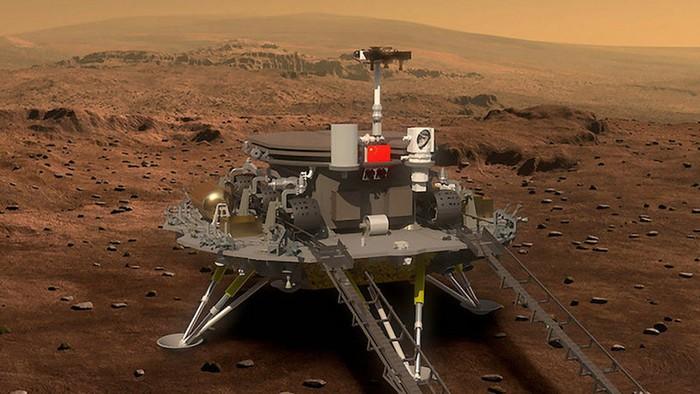 Render rover China ke Mars. Foto: Xinhua